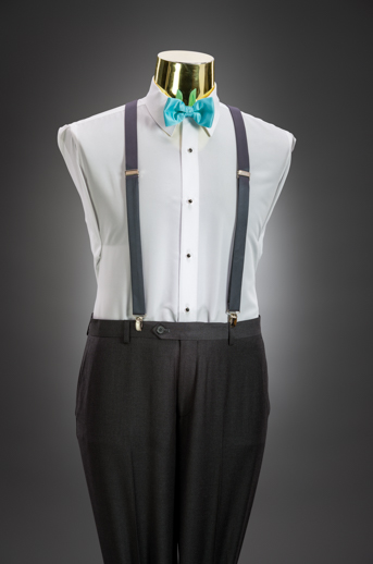 Charcoal Slim Pant & Suspender