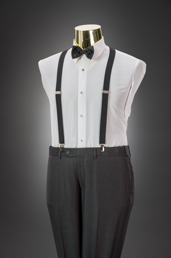 Medium Grey Slim Pant & Suspender