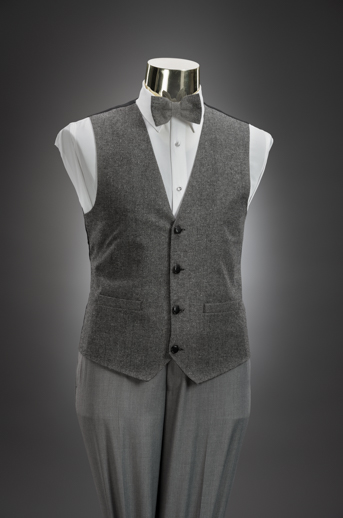 Light Grey Slim Pant & Tweed Vest