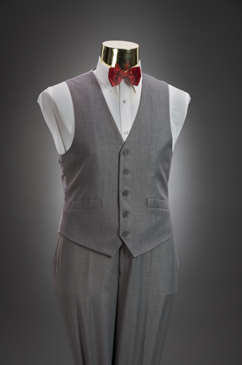Light Grey Slim Pant & Vest