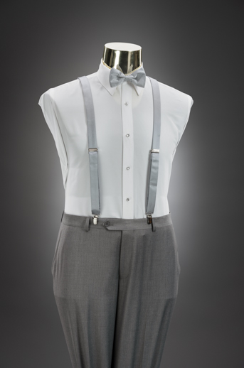 Light Grey Slim Pant & Suspender