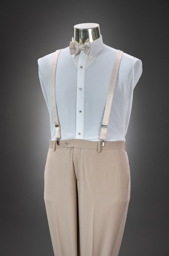 Tan Slim Pant & Suspender