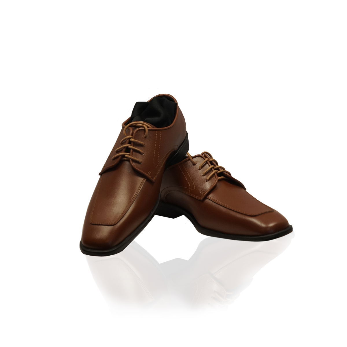 Cognac Moc Toe Shoes